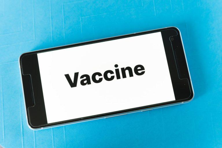 Vaccine on smartphone
